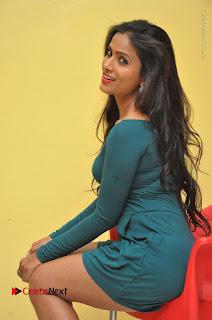 Telugu Actress Prasanthi Stills in Green Short Dress at Swachh Hyderabad Cricket Press Meet  0071.JPG