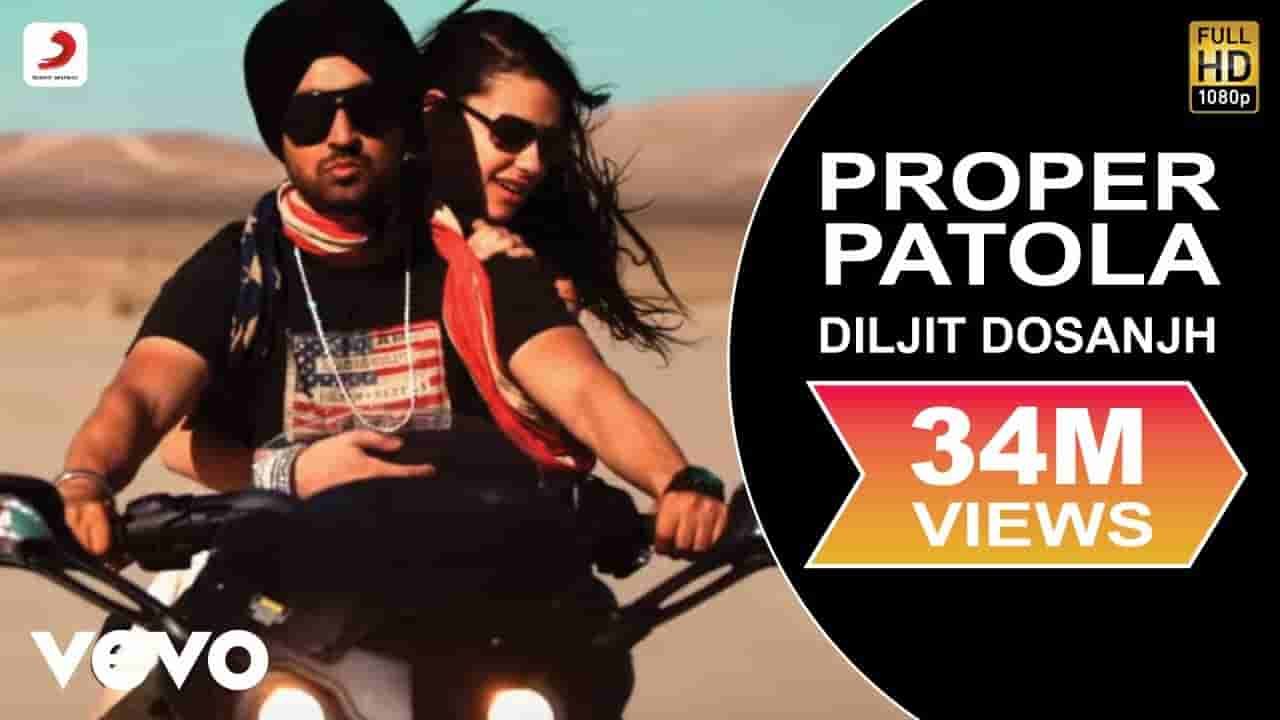 प्रॉपर पटोला Proper patola lyrics in Hindi Diljit Dosanjh x Badshah Punjabi Song