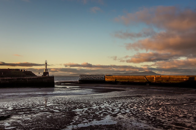 Photo of Maryport lighthouse sunset