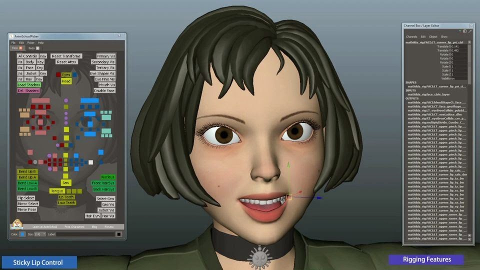 Advanced Character Modeling Blender : Animation mathilda a new free rig for maya animators