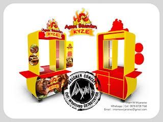 produksi gerobak ayam goreng ayam bakar