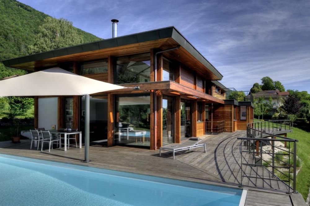 maison ossature bois contemporaine ides dcoration