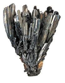 La antimonita tambien conocida como estibina es un mineral metalico gris plomizo