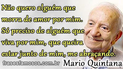 Frases do poeta Mario Quintana