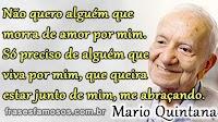 Frases do Poeta Mario Quintana - Morrer de Amor