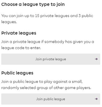 Join Private league - Fantasy Premier League
