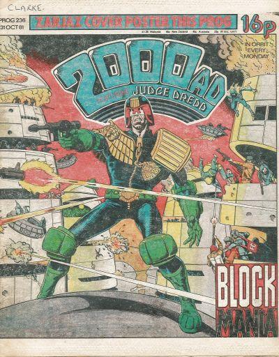 2000 AD 236, Judge Dredd