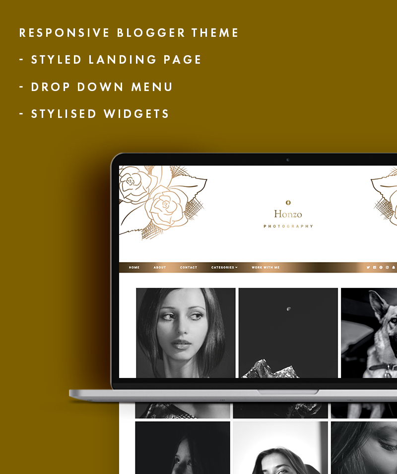 responsive blogger template honzo photography