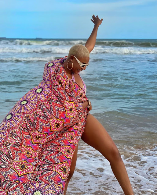 photos from Nancy Isime vacation at Lagos Ilashe Luxury Beach Resort