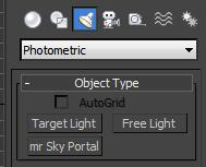 Photometric lights in 3dsmax