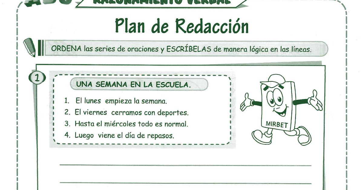 Ejemplos De Redaccion Para Niños De Primaria Compartir Ejemplos