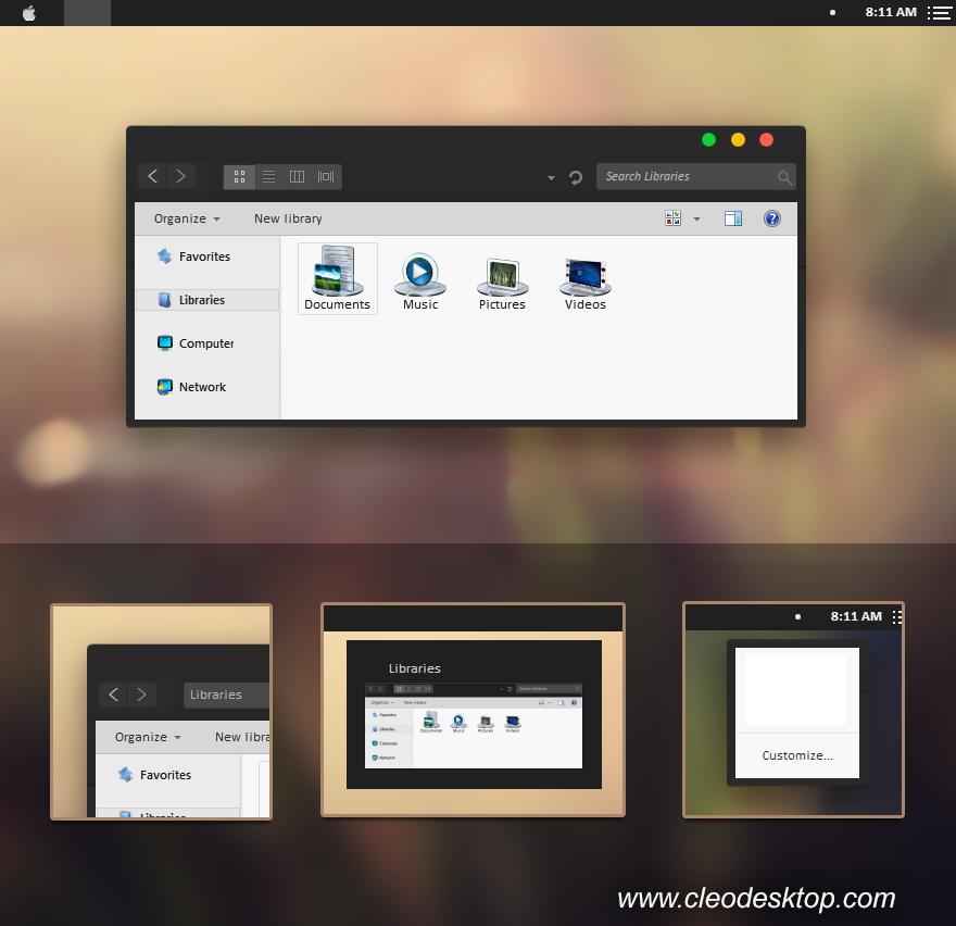 Hướng Dẫn Cài đặt Os X 10 10 Yosemite Trên Vmware 10: Yosemite Black Theme Windows 7
