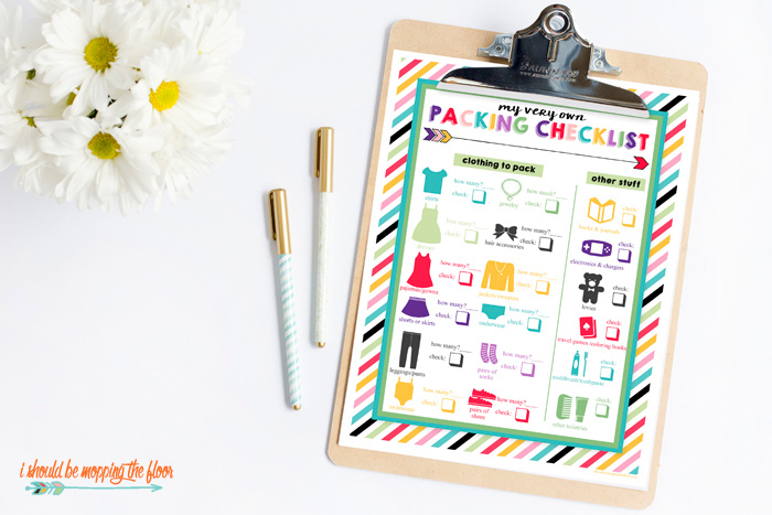 Printable Packing List for Kids