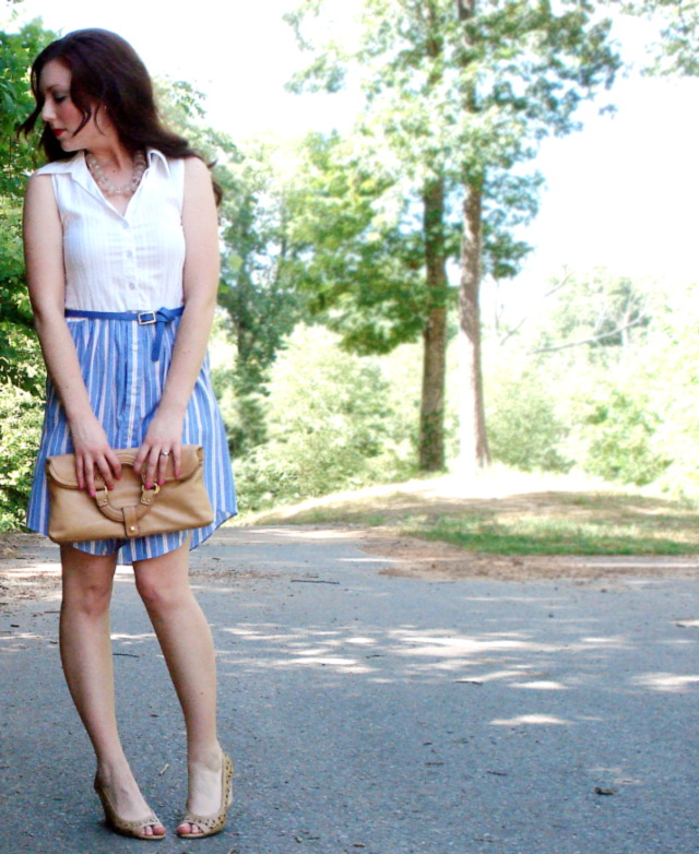 DIY dress from Oxford-button up shirts