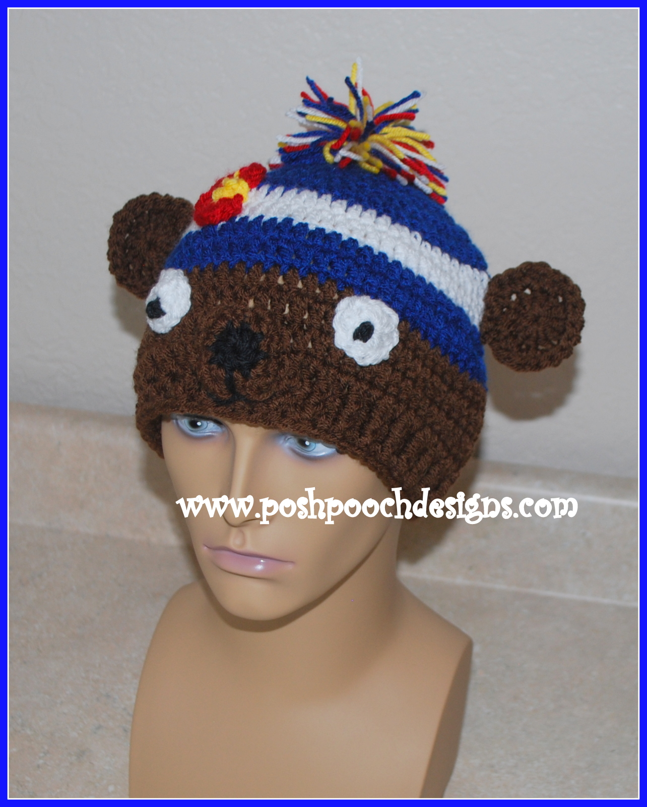 Posh Pooch Designs Dog Clothes: Bear Colorado Beanie Hat ...