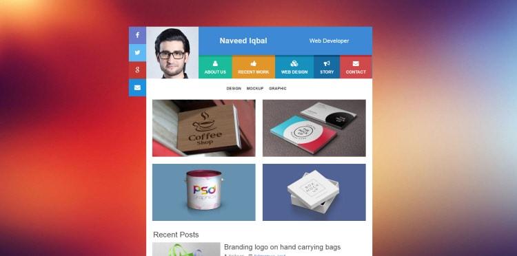 fredy portfolio blogger template download free blogspot theme 2018
