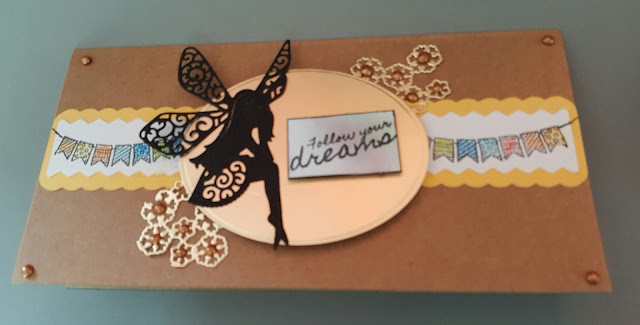 Follow your dreams - Fairy DL Kraft card