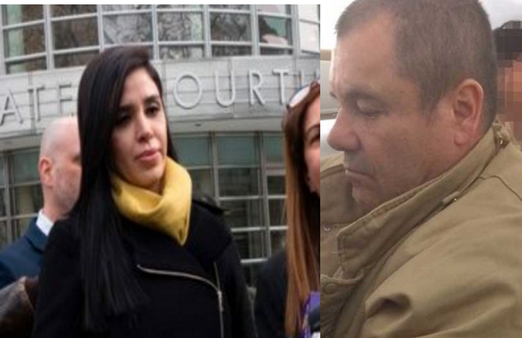 """Lo primero que le dijeron a El Chapo cuando entró a la corte fue que estaba Emma Coronel él volteó cruzaron miradas y ella le sonrió"""""""