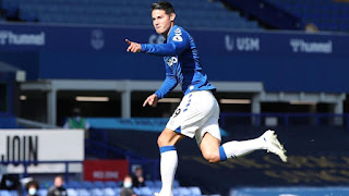 James Rodriguez impressed with Everton's win; reveal tough games to come