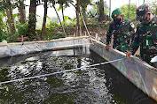 Danramil 1905/Jtl Kodim 0619/Pwk Rangsang Masyarakat Jaga Ketahanan  Pangan Dengan Budidaya Ikan