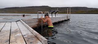 Fiordos del Este de Islandia, Vök Baths, Iceland.