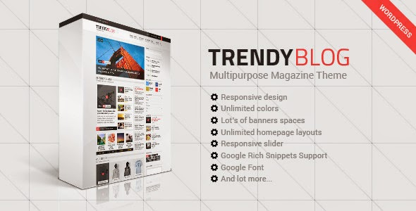 TrendyBlog Multipurpose Magazine - WordPress Themes