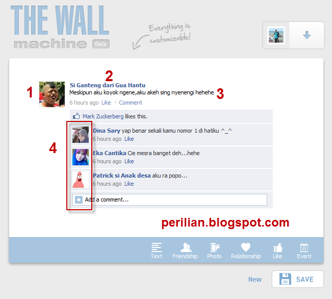 Cara Mudah Membuat Dinding Percakapan Facebook Palsu