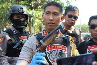 Tim Cobra Temukan Senjata Api Saat Gelar Operasi Begal