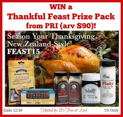 Enter the Thankful Feast Prize Pack from PRI Giveaway. Ends 12/10