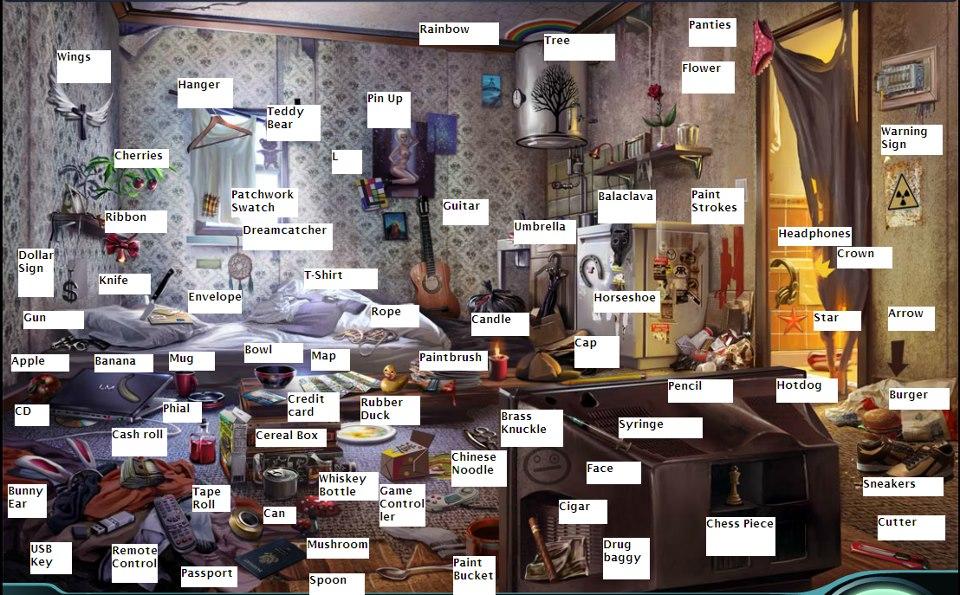 Case 4 Living Room Criminal Case Objects