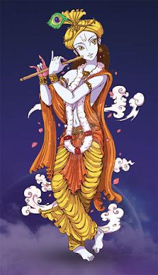 god krishna with bansuri bhagwan krishan wallpaper download