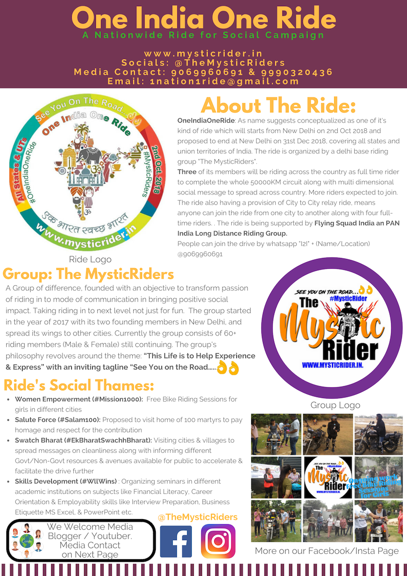 Ride Information & Media Kit