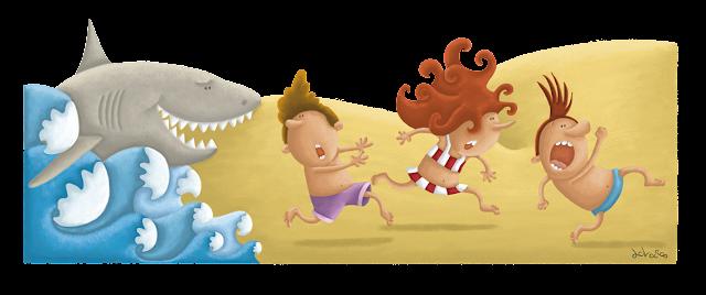 """ilustración-tiburones-ana sáez del arco-illustration-sharks"""""""