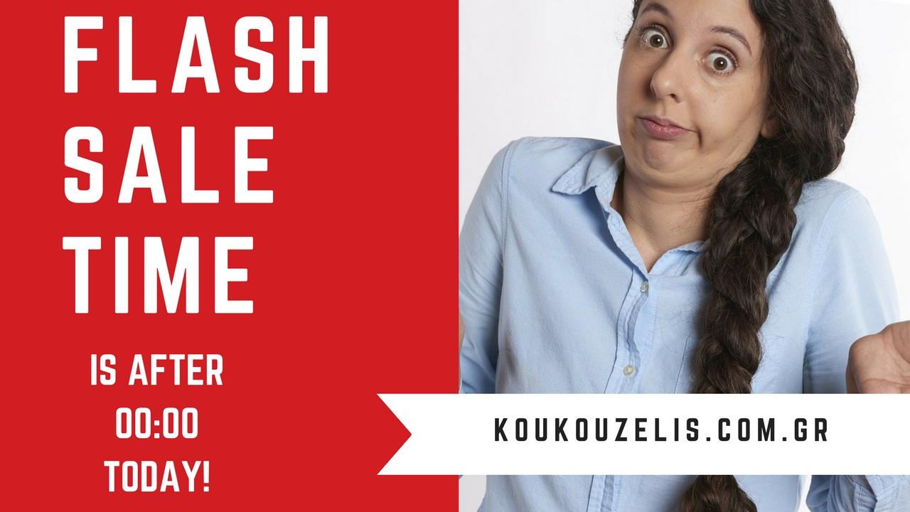 Δελτιο Τυπου για προωθητικη ενεργεια Flash Sale Time is After 00:00 TODAY!