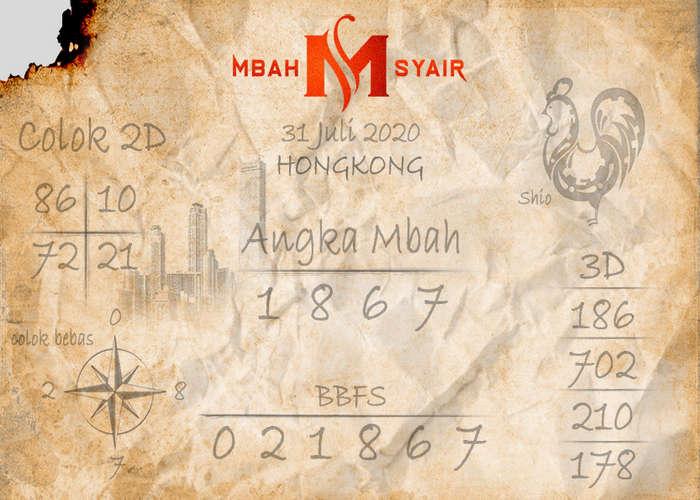 Kode syair Hongkong Jumat 31 Juli 2020 8