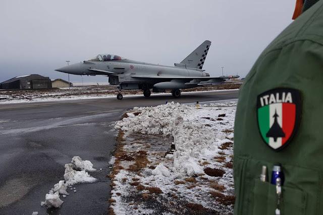 Italian Typhoons safeguard Icelandic airspace