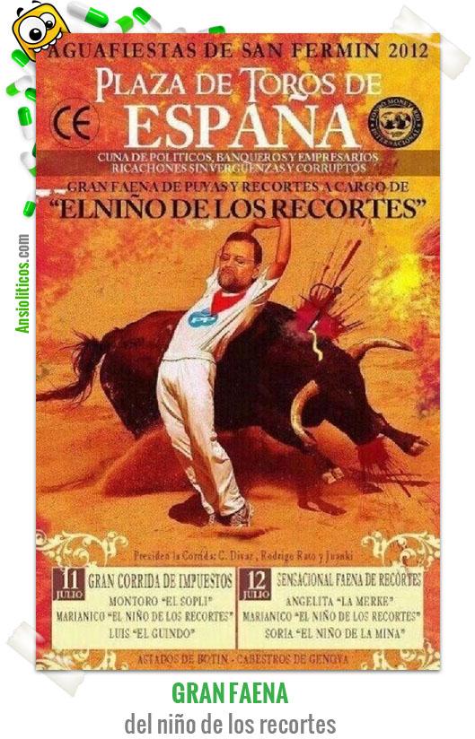 Chiste de Rajoy el Niño de los Recortes