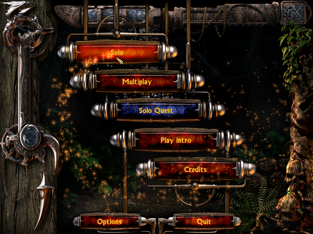 Nox menu screen