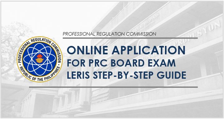 PRC online application for board exam 2020