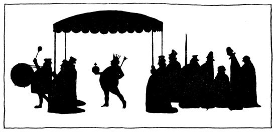 """Emperor's New Clothes"" illustration in Hans Andersen's fairy tales by William Heath (1913)"