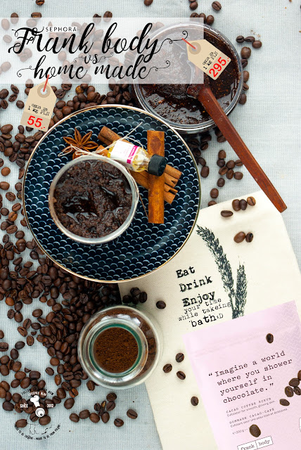 przepis na piling peeling kawowy diy naturalny domowej roboty kosmetyki home made hand made coffee peeling