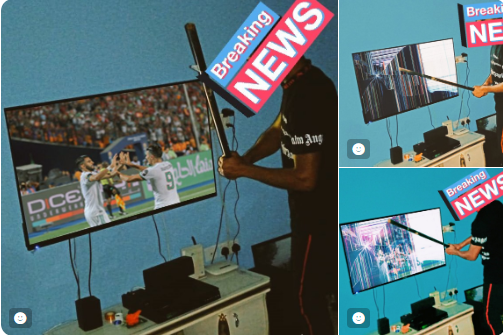 Nigerian Boy Destroys His Television  After Super Eagles Loss To Algeria – See Photos