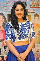 Regina Casandra in Stunning White Embroidery Crop Top Choli and Blue Ghagra at Santosham awards 2017 curtain raiser press meet 02.08.2017 041.JPG