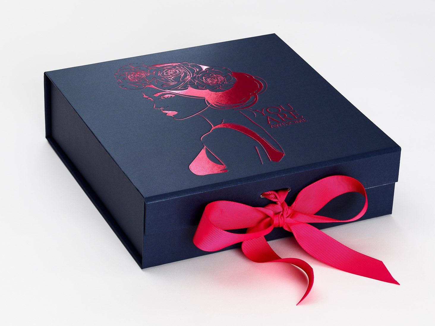 Custom boxes with ribbon