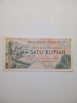 1 rupiah tahun 1961