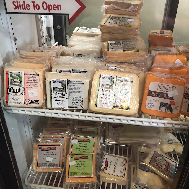 Shopping for local cheese at Sassy Cow near Madison, Wisconsin