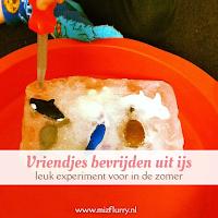 Vriendjes bevrijden uit ijs - leuk experiment voor in de zomer