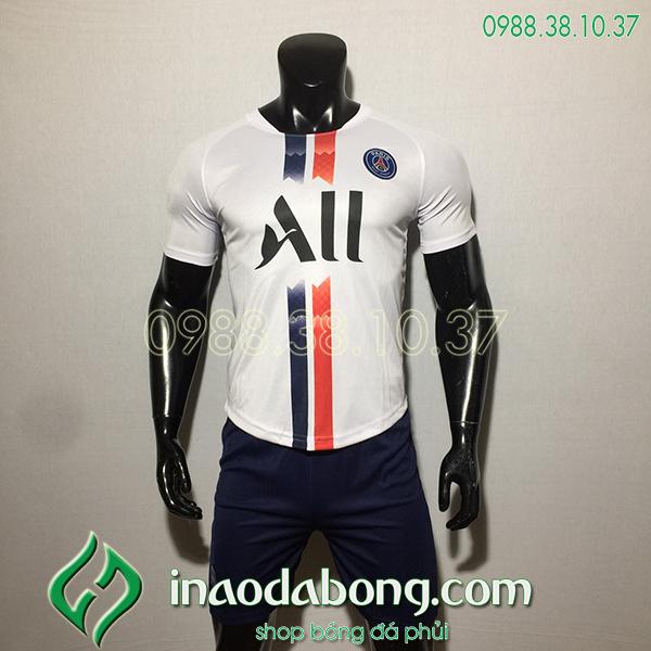 Áo bóng đá câu lạc bộ PSG màu trắng 2020
