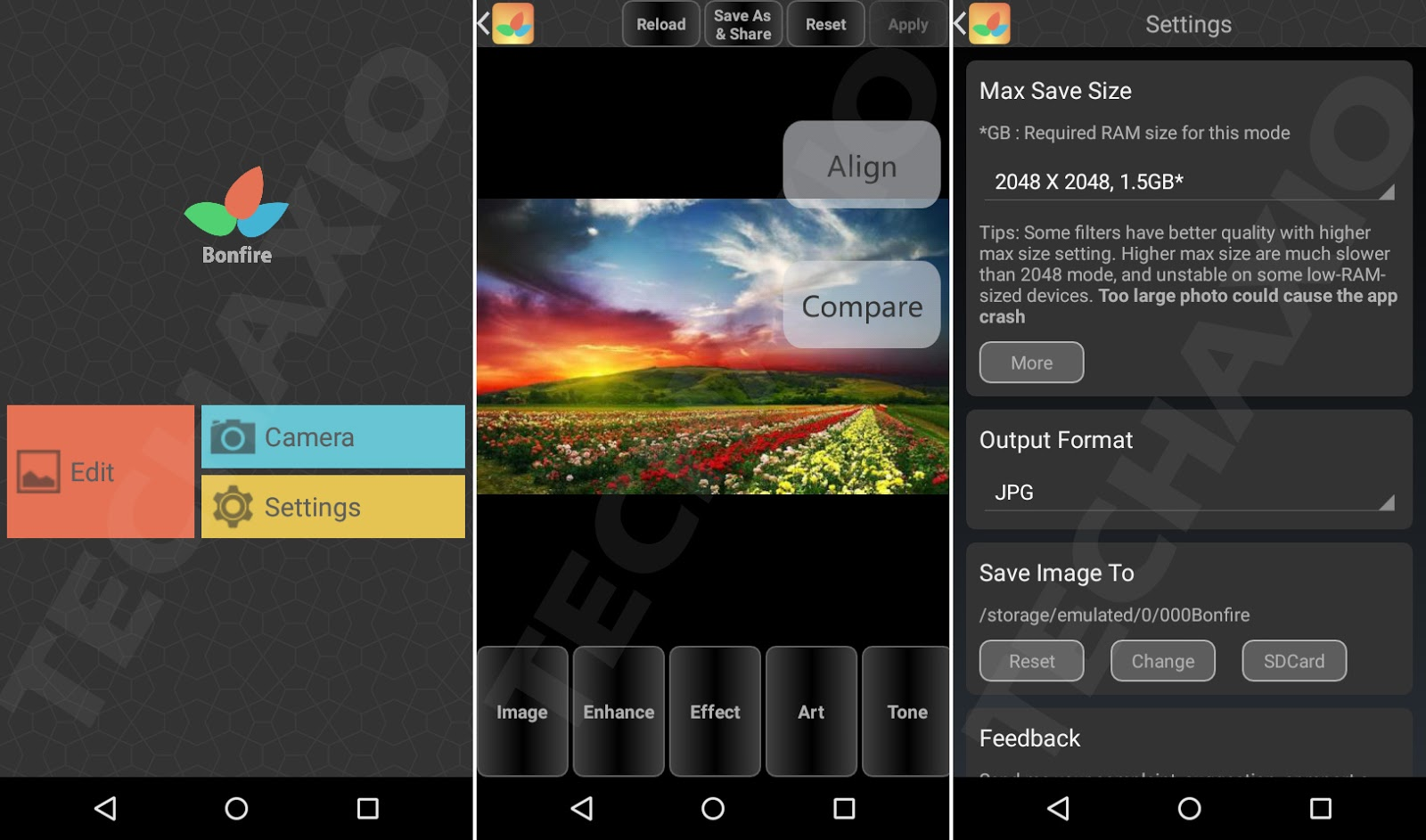 Bonfire Photo Editor Pro Screenshots