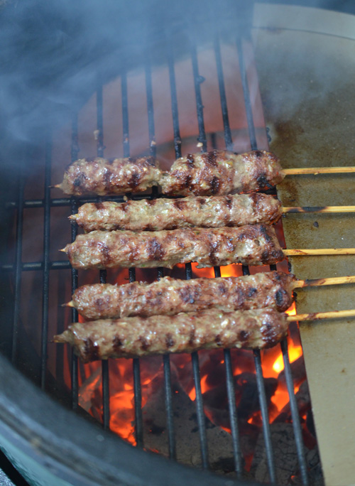 Grilling gyros on the Big Green Egg